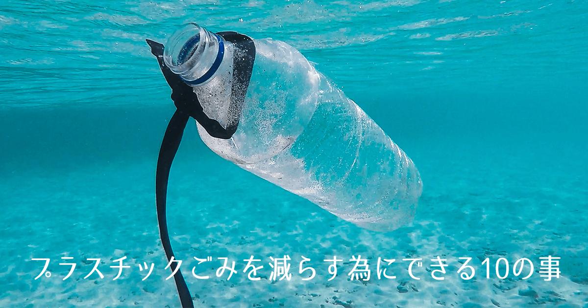 プラスチックごみを減らすためにできる10の事
