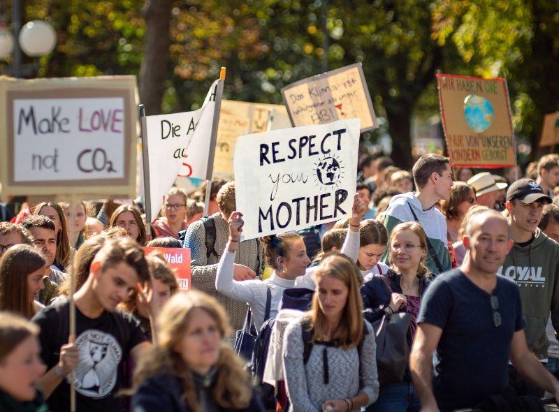 温暖化反対デモ
