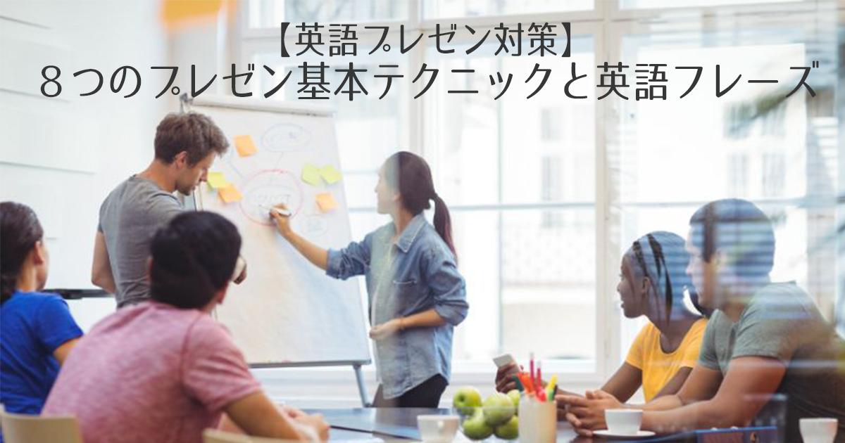 【英語プレゼン対策】8つのプレゼン基本テクニックと英語フレーズ