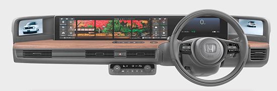 電気自動車(EV車)ホンダ Honda -eの内装・スクリーン